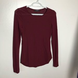 Shein Ribbed Long-sleeve Top